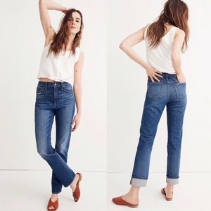 Madewell Blue High Rise Slim Boy Jean 26